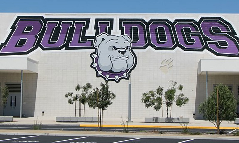 Portola High School Irvine CA Rating and Ranking School's Mascot Painted On the School Gym